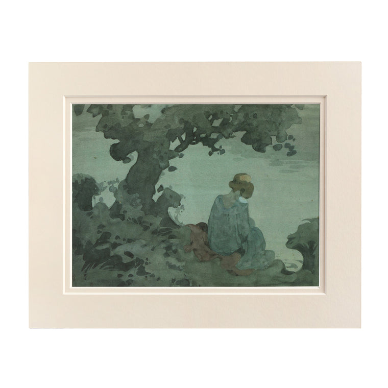 Print Mounted - Girl on a Riverbank
