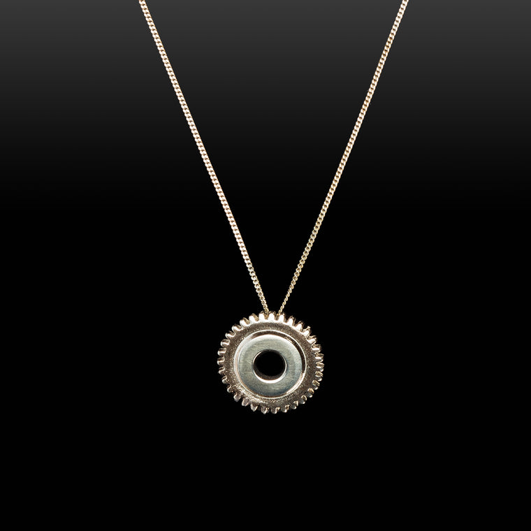 Silver Cog Necklace