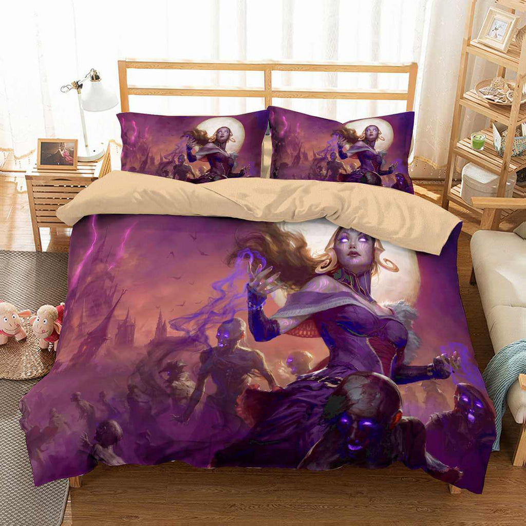Beautiful 3d Golden Sea Mermaid And Pirate Ship Bed Set Girls Bedlinens Set Comforter Bedding Sets Duvet Cover Set King Size Power Source