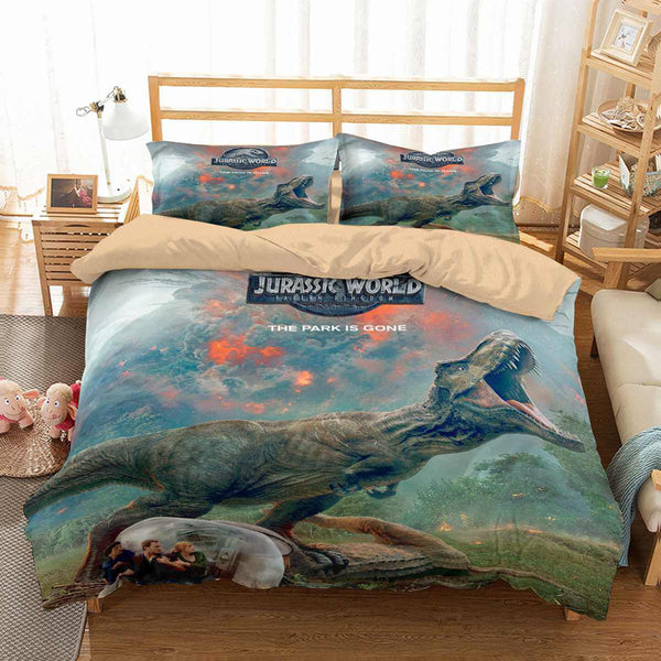 3D Customize Jurassic World Fallen Kingdom Bedding Set
