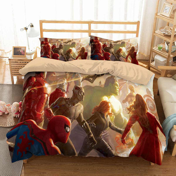 3D Customize Avengers Bedding Set Duvet Cover Set Bedroom Set Bedlinen - Three Lemons Hometextile