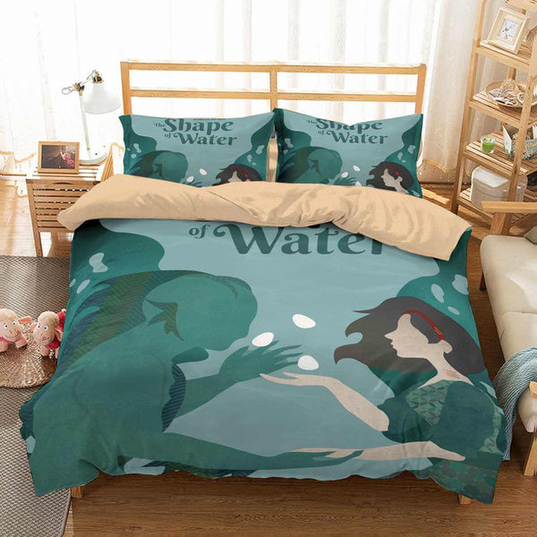 3D Customize The Shape of Water Bedding Set Duvet Cover Set Bedroom Set Bedlinen