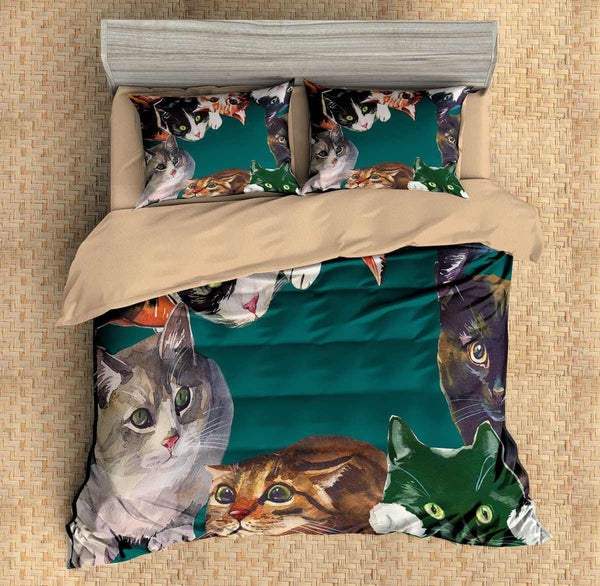 3D Customize Cats Bedding Set Duvet Cover Set Bedroom Set Bedlinen