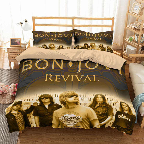 3D Customize Bon Jovi Bedding Set Duvet Cover Set Bedroom Set Bedlinen