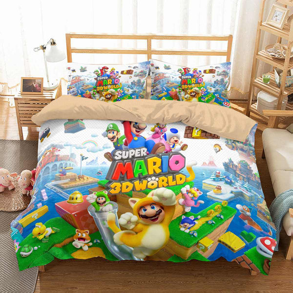 3D Customize Super Mario 3D World Bedding Set Duvet Cover Set Bedroom Set Bedlinen