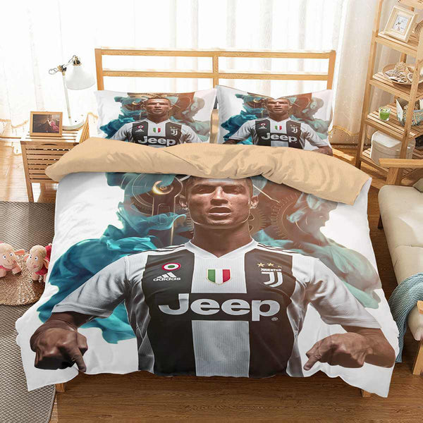3d Customize Cr7 Juventus Fc Bedding Set Duvet Cover Set Bedroom Set B Three Lemons Hometextile