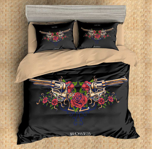 3D Customize Guns N' Roses Bedding Set Duvet Cover Set Bedroom Set Bedlinen
