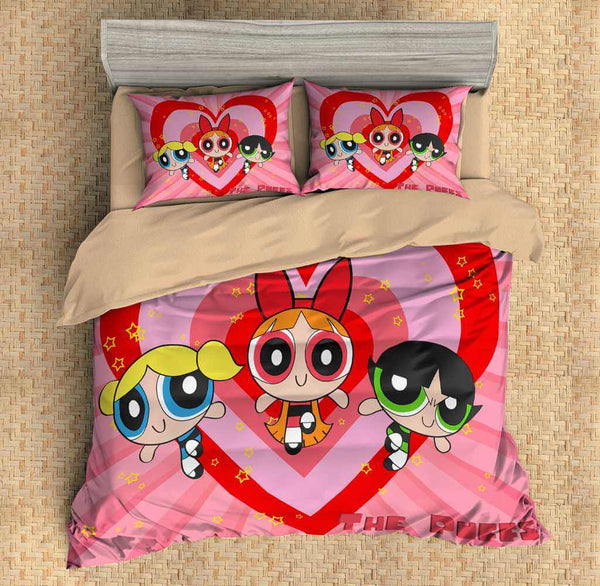 3D Customize The Powerpuff Girls Bedding Set Duvet Cover Set Bedroom Set Bedlinen
