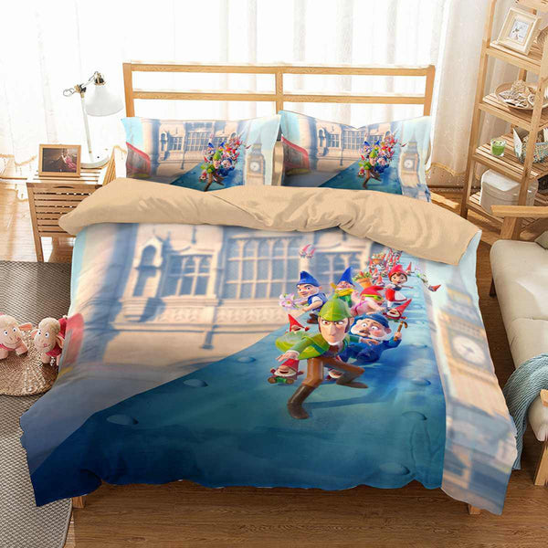 3D Customize Sherlock Gnomes Bedding Set Duvet Cover Set Bedroom Set Bedlinen