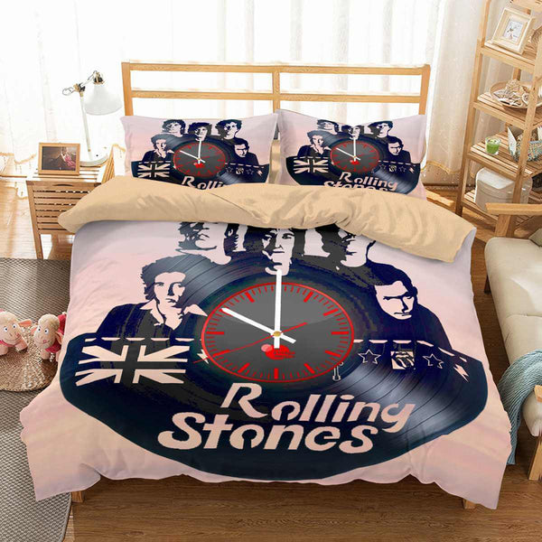 3D Customize The Rolling Stones Bedding Set Duvet Cover Set Bedroom Set Bedlinen