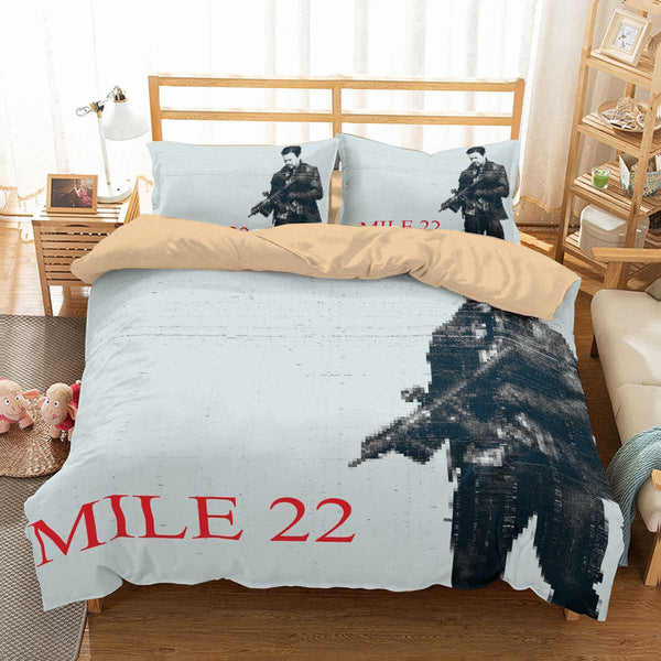3D Customize Mile 22 Bedding Set Duvet Cover Set Bedroom Set Bedlinen