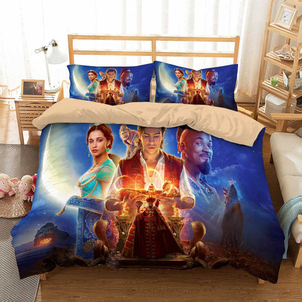 3D Customize Aladdin 2019 Bedding Set Duvet Cover Set Bedroom Set Bedlinen