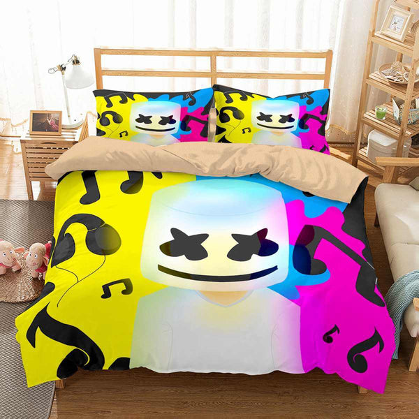 3D Customize Marshmello Bedding Set Duvet Cover Set Bedroom Set Bedlinen