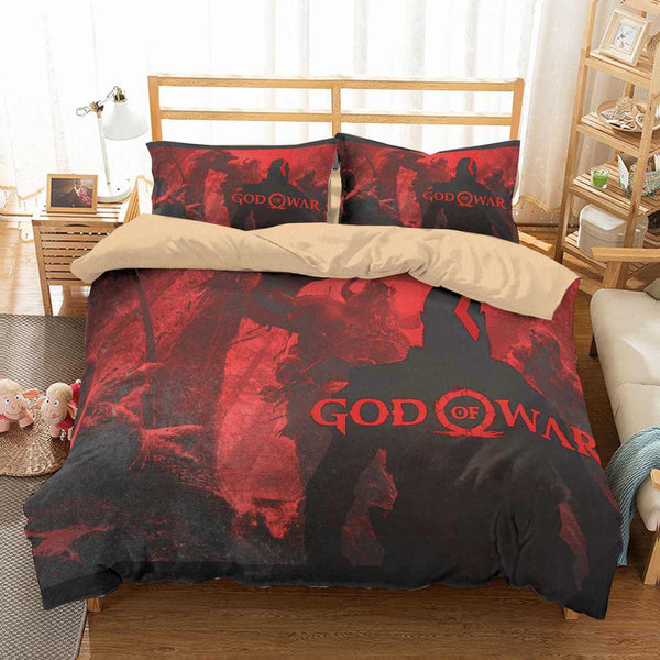 3D Customize God of War Bedding Set Duvet Cover Set Bedroom Set Bedlinen