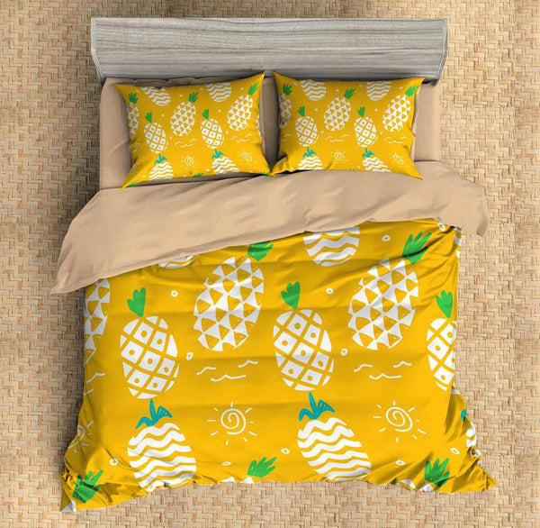 3D Customize Pineapple Bedding Set Duvet Cover Set Bedroom Set Bedlinen