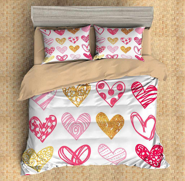 3D Customize Love Bedding Set Duvet Cover Set Bedroom Set Bedlinen