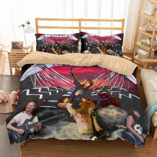 3D Customize Metallica Bedding Set Duvet Cover Set Bedroom Set Bedlinen