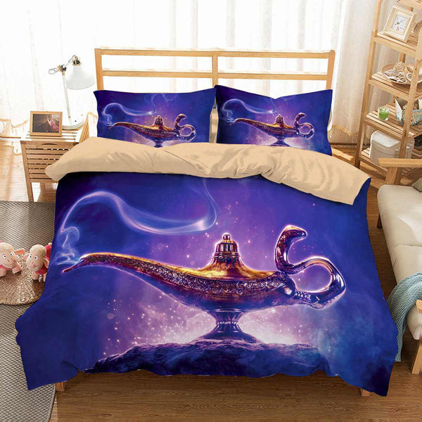 3D Customize Aladdin Bedding Set Duvet Cover Set Bedroom Set Bedlinen - Three Lemons Hometextile