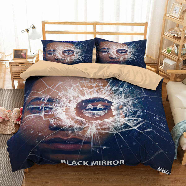 3D Customize Black Mirror Bedding Set Duvet Cover Set Bedroom Set Bedlinen
