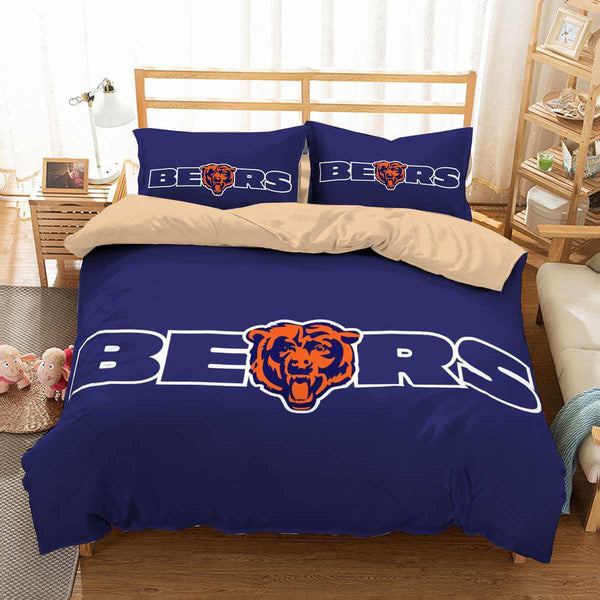 3D Customize Chicago Bears Bedding Set Duvet Cover Set Bedroom Set Bedlinen
