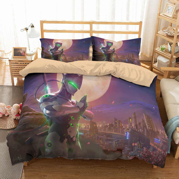 3D Customize Genji Overwatch Bedding Set Duvet Cover Set Bedroom Set Bedlinen