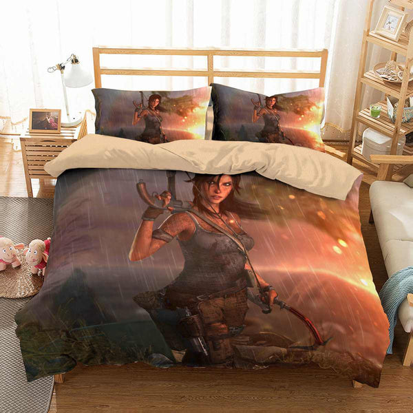 3D Customize Tomb Raider Lara Croft Bedding Set Duvet Cover Set Bedroom Set Bedlinen