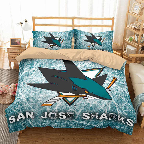 3D Customize San Jose Sharks Bedding Set Duvet Cover Set Bedroom Set Bedlinen