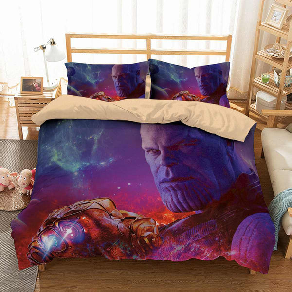 3D Customize Avengers Infinity War Thanos Bedding Set Duvet Cover Set Bedroom Set Bedlinen - Three Lemons Hometextile