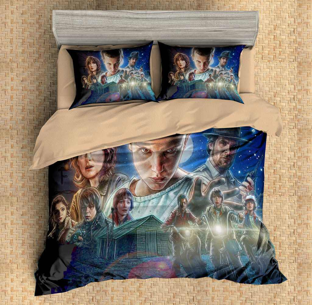 Stranger Things Duvet Cover Set Three Lemons Hometextile