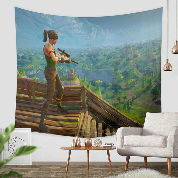 3D Custom Fortnite Tapestry Throw Wall Hanging Bedspread - Three Lemons Hometextile