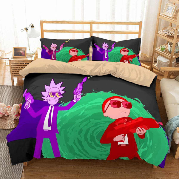 3D Customize Rick and Morty Bedding Set Duvet Cover Set Bedroom Set Bedlinen