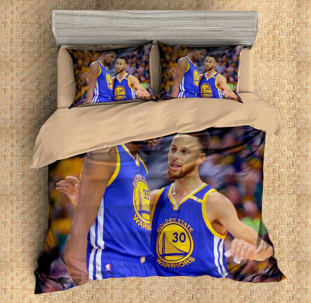 3d Customize Stephen Curry Amp Kevin Durant Bedding Set