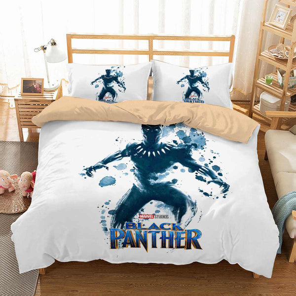 3D Customize Black Panther Bedding Set Duvet Cover Set Bedroom Set Bedlinen - Three Lemons Hometextile