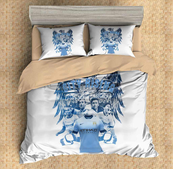 3D Customize Man City Bedding Set Duvet Cover Set Bedroom Set Bedlinen