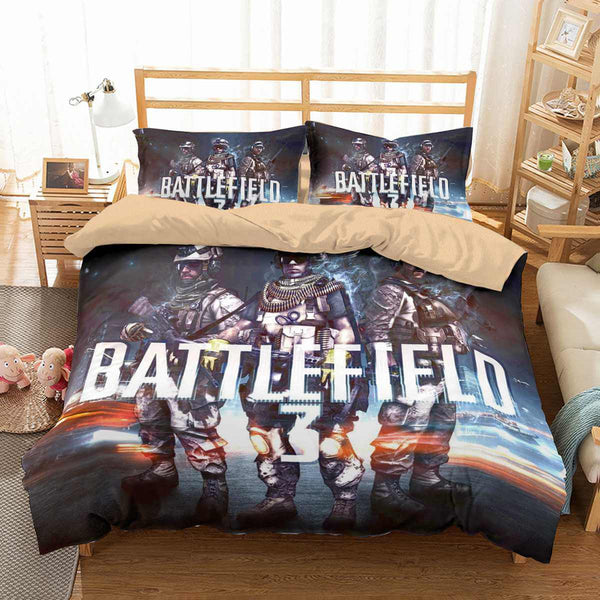 3D Customize Battlefield Bedding Set Duvet Cover Set Bedroom Set Bedlinen - Three Lemons Hometextile