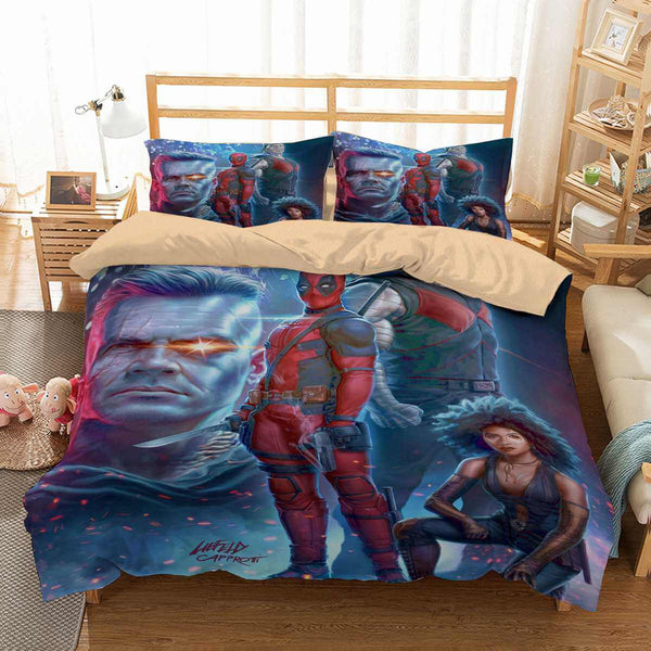 3D Customize Deadpool 2 Bedding Set Duvet Cover Set Bedroom Set Bedlinen
