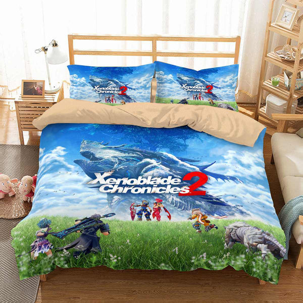 3D Customize Xenoblade Chronicles 2 Bedding Set Duvet Cover Set Bedroom Set Bedlinen