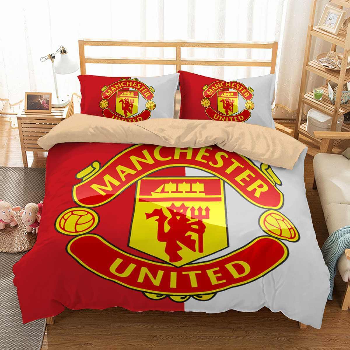 3d Customize Manchester United Bedding Set Duvet Cover Set Bedroom Set Three Lemons Hometextile
