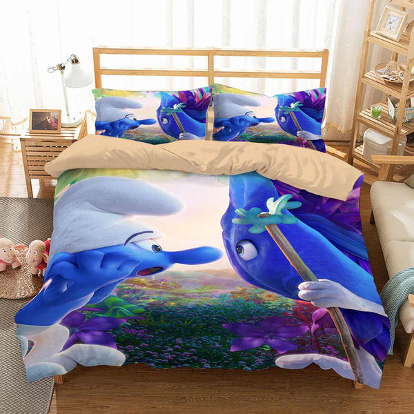 3D Customize Smurfs The Lost Village Bedding Set Duvet Cover Set Bedroom Set Bedlinen