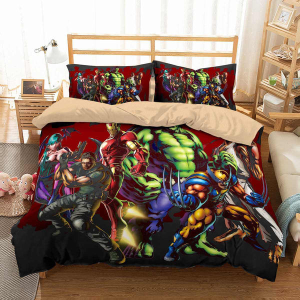 3D Customize Comics Superhero Bedding Set Duvet Cover Set Bedroom Set Bedlinen