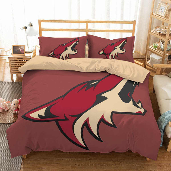 3D Customize Arizona Coyotes Bedding Set Duvet Cover Set Bedroom Set Bedlinen - Three Lemons Hometextile