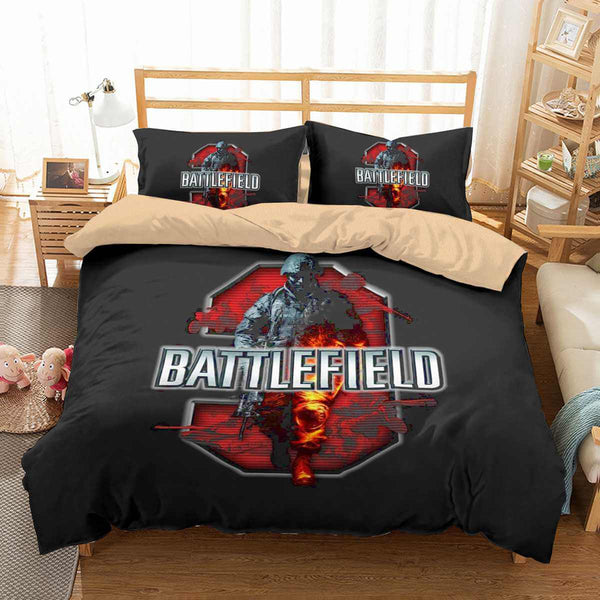 3D Customize Battlefield 3 Bedding Set Duvet Cover Set Bedroom Set Bedlinen - Three Lemons Hometextile