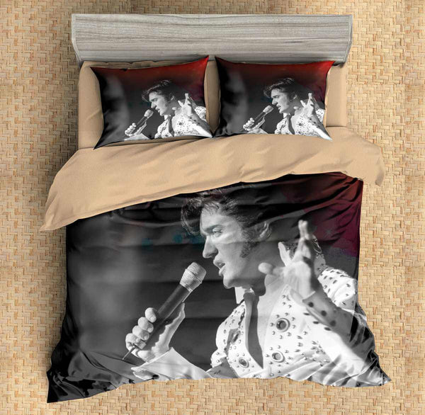 Elvis Presley Bedding Sets.3d Customize Elvis Presley Bedding Set Duvet Cover Set Bedroom Set Bedlinen