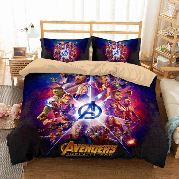 3D Customize Avengers Infinity War Bedding Set Duvet Cover Set Bedroom Set Bedlinen - Three Lemons Hometextile