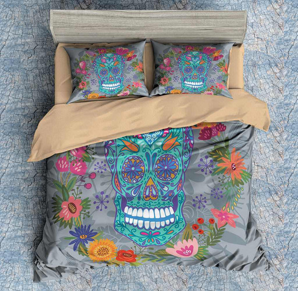 3D Customize Colorful Skull Bedding Set Duvet Cover Set Bedroom Set Bedlinen