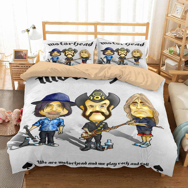 3D Customize Motorhead Bedding Set Duvet Cover Set Bedroom Set Bedlinen