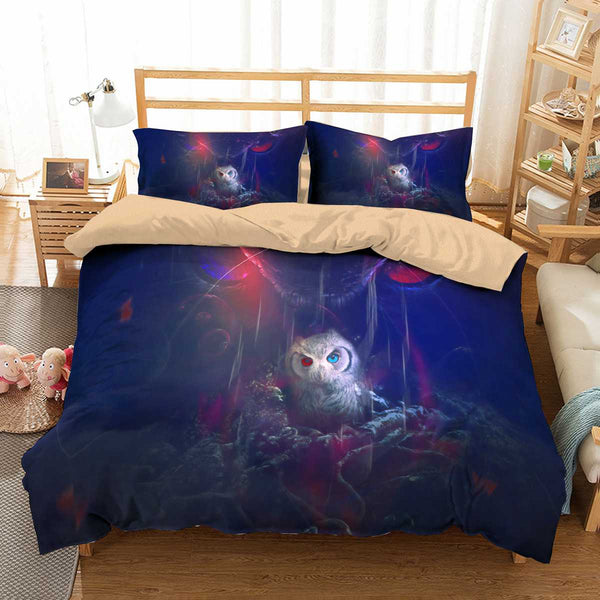 3D Customize Owl Bedding Set Duvet Cover Set Bedroom Set Bedlinen