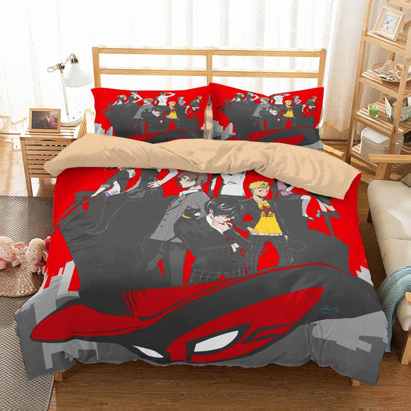 3D Customize Persona 5 Bedding Set Duvet Cover Set Bedroom Set Bedlinen