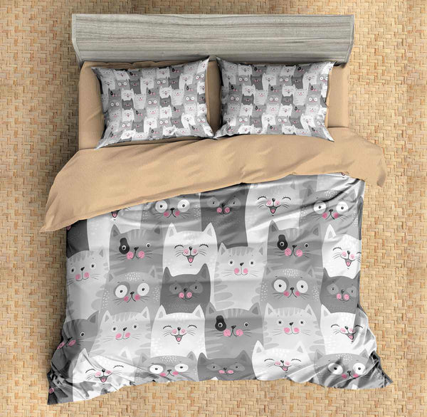 3D Customize Cartoon Cats Bedding Set Duvet Cover Set Bedroom Set Bedlinen
