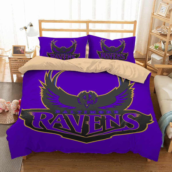 3D Customize Baltimore Ravens Bedding Set Duvet Cover Set Bedroom Set Bedlinen - Three Lemons Hometextile